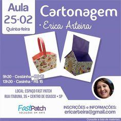 Sempre Arteira (by Erica Arteira): AULA DE CARTONAGEM - ESPAÇO FASTPATCH DE ARTESANAT...