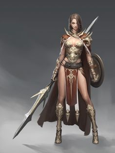 The Korean Artists seem to have nailed how to blend the Asian and European fantasy look together. Fantasy Warrior, Fantasy Girl, Chica Fantasy, Warrior Girl, Fantasy Women, Warrior Princess, Fantasy Character Design, Character Design Inspiration, Character Art