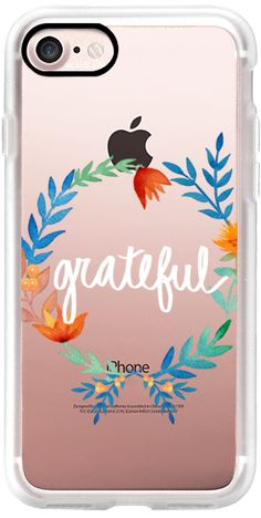 Casetify iPhone 7 Classic Grip Case - Grateful Floral Watercolors Seasonal Fall Thanksgiving by Megan Pizzitola #Casetify