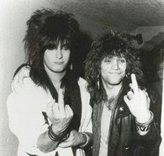 Nikki Sixx AND Jon Bon Jovi ... My dreams just called!!