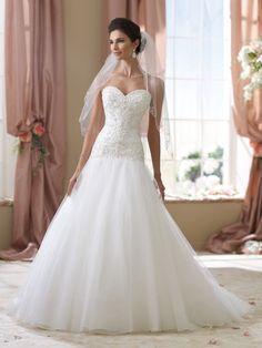 David Tutera for Mon Cheri 'Cora' size 6 new wedding dress - Nearly Newlywed