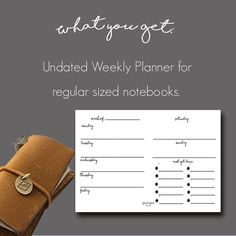 Buy this new printable insert with a stylish blank Weekly Planner & To do list planner, essential for your Notebook/Midori/Fauxdori/Leather journal.  No need to waste money buying printed inserts! With this one purchase you could print your Weekly Planner for an unlimited amount of times. This printable is sized for the Regular notebooks which is:   21 cm (8.3 inches) x 11 cm (4.5 inches) However if you love the insert but need it for a different sized notebook then simply send me a message…