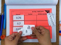 Math Sorts - Fractions and Decimals Teaching Decimals, Math Fractions, Teaching Math, Dividing Fractions, Equivalent Fractions, Maths, Math Sorting Activities, Fraction Activities, Interactive Activities