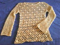 Creaciones VM: Remera calada a crochet