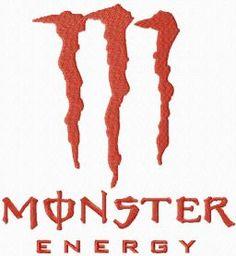 Monster Energy logo machine embroidery design. Machine embroidery design. www.embroideres.com