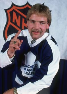 Wendel Clark, chosen first overall by the Toronto MapleLeafs in 1985. My favorite hockey player of all time by far!!!