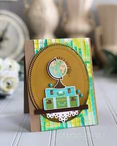 Let's Get Lost Card by Dawn McVey for Papertrey Ink (June 2018)