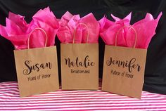 Free Shipping!,Personalized Bridesmaid Gift Bag,Custom Bridal Party Gift Bag,Bridesmaid Gift Bag,Personalized Paper Bag,Heavy Duty Kraft Bag by UniquelyWildDecals on Etsy https://www.etsy.com/listing/507001255/free-shippingpersonalized-bridesmaid