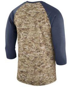 Nike Men s New England Patriots Salute To Service Raglan T-Shirt - Blue XXL  Nfl 23803cdb3