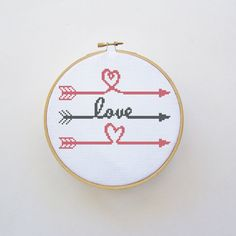 Love Arrows Cross Stitch Pattern  PDF File  by threadsandthings1