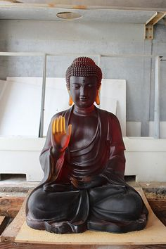 Cast Glass Buddha (for temple project) Lotus Buddha, Art Buddha, Buddha Buddhism, Gautama Buddha, Cast Glass, Sacred Art, Glass Art, It Cast, Inspiration