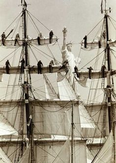 It's the Fourth of July  #fourth of july #statue of liberty #new york #sailing