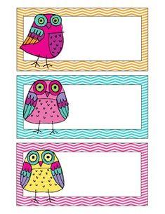 Owl Classroom Theme Items {calendar cards, desk plates, etc. Owl Theme Classroom, Classroom Design, Owl Templates, Classroom Organisation, Pocket Scrapbooking, Owl Bird, Square Card, School Fun, Blank Cards