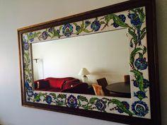 emeklilik hobileri: çinilerim-20 Glazed Tiles, Turkish Tiles, Newspaper Crafts, Mirror Tiles, Border Design, Furniture Decor, Decoration, Kitchen Decor, Porcelain