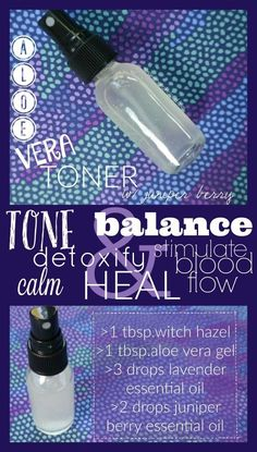 Aloe Vera Toner with Juniper Berry-Perfect diy toner that helps tone, balance and rev up circulation!