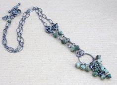 "Sterling Silver & Emerald ""Naomi"" necklace. www.abigailfranklyn.com"