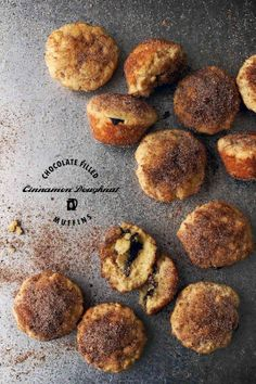 Chocolate Filled Cinnamon Doughnut Muffins