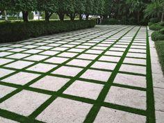 Grass/block driveway