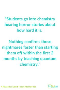 Do you feel like there is a better way to teach chemistry than the way your textbook suggests? Do you want to teach chemistry in a different order than your textbook? Go for it! But before you do, check out this blog post on how you shouldn't be teaching which will make you the best chemistry teacher ever. #atomsfirst Chemistry Classroom, High School Chemistry, Teaching Chemistry, Chemical Equation, The Way You Are, Teaching Strategies, Textbook, Numbers, About Me Blog
