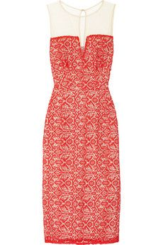 ALICE by Temperley Alberto lace and mesh dress | THE OUTNET