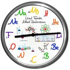 Ceas de chimie cu experimente (cu textul dvs.) Retro, Chemistry, Retro Illustration