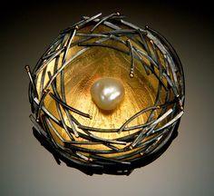 Bird Nest pin by Sydney Lynch