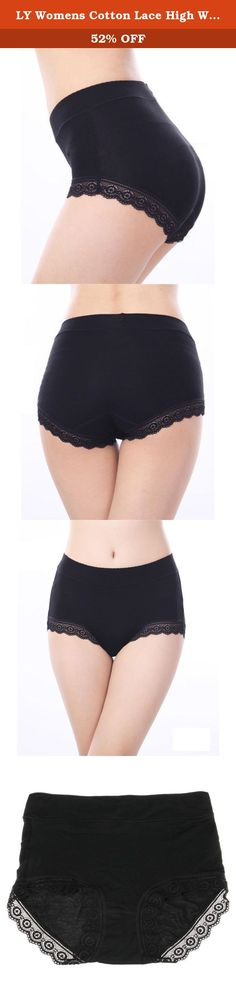 088423cfb0a LY Womens Cotton Lace High Waist Comfy Covered Stretch Boyshort Panty  Underpants