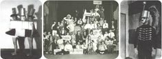 Bauhaus Partes: Nuevo Partido Objetividad, 1925; Bauhaus Danza en Weimar, 1922 o 1923 del  Teatro de la Bauhaus ; Soldado Tonterías en la fiesta de Metal, 1929
