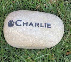 Pet Memorial Stone - Pet Stone Memorial Burial Stone Grave Marker Head