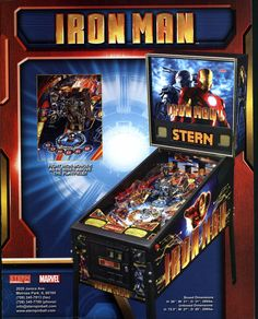 Iron Man #PinballMachine #Flipper #Pinball #Marvel #Movie #Comic