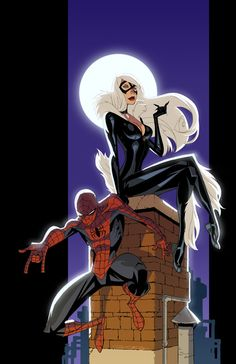 via Spider-man and Black Cat by *KharyRandolph on deviantART Auction your comics on http://www.comicbazaar.co.uk