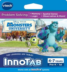 VTech InnoTab Software, Disney Pixar's Monsters University #Disney