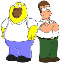 funny-homer-simpsons-peter-griffin-family-guy