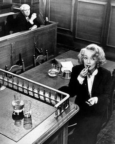 """Witness for the Prosecution"" directed by Billy Wilder and starring Dietrich, Tyrone Power and Charles Laughton."