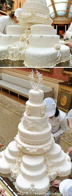 William and Kate's cake in the Picture Gallery