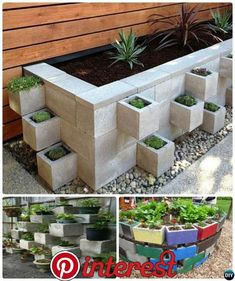 DIY Cinder Block Garden Projects Instructions - DIY Cinder Block Raised Garden Simple Cinder Block Garden Projects The Effective Pictures We - Cinder Block Garden, Cinder Block Ideas, Raised Garden Beds Cinder Blocks, Garden Ideas With Cinder Blocks, Raised Beds, Cinder Block Walls, Garden Ideas Concrete Blocks, Cinder Block Furniture, Garden Blocks