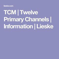 TCM | Twelve Primary Channels | Information | Lieske