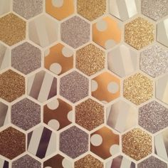 Twins in the Cities: DIY Hexagon Canvas Art