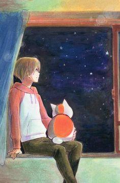 Natsume's Book of Friends Yuujinchou postcard promo Nyanko sensei Madara , Natsume Takashi