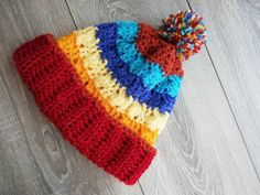 Pompoms wool Hat Kids : Pompoms Hat in wool for Kids ( years). Soft and warm wool perfect for kids. Crochet Gifts, Knit Crochet, Green Wool, Knitting For Kids, Handmade Items, Handmade Gifts, Knitted Hats, Colours, Warm