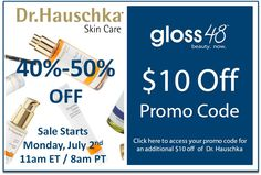 40-50% off Dr. Hauschka cleansing system, regenrist skincare, and makeup NOW on gloss48.com.  Click here to get an additional 10 dollars off: http://woobox.com/fna6gy
