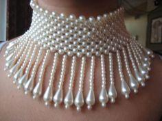 Pearl Choker Downton Abbey Art Deco Great Gatsby 1920s Antique Estate VTG Bridal