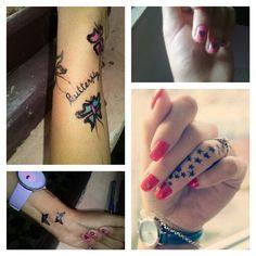 Nail art# tattoo