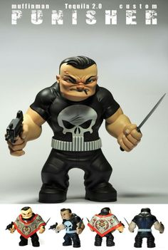 "Muffinman's custom ""Punisher"" Tequila vinyl figure... is FANTASTIC!!!"