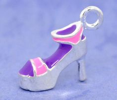 SOLD!!  PA 20 Silver Plated Enamel High-heel Shoes Charms . Starting at $5 on Tophatter.com!  http://tophatter.com/auctions/28088?type=partner