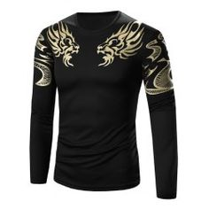 SHARE & Get it FREE | Golden Totem Pattern Long Sleeve T-ShirtFor Fashion Lovers only:80,000+ Items • FREE SHIPPING Join Twinkledeals: Get YOUR $50 NOW!