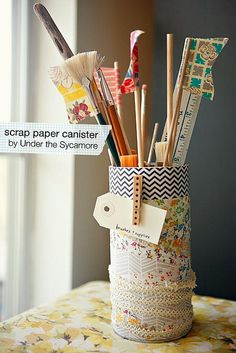 Scrap Paper Canister; sometimes it's the simplest things that can make us happy. :)