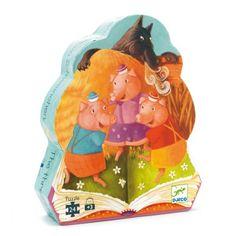 Illustrations tendres et colorées sur un des contes favori des enfants, ce puzzle diaporama de 24 pièces permettra à votre enfant de travailler, tout en s'amusant, son repérage dans l'espace et d'exercer sa concentration et sa patience. Et quelle fierté quand il viendra à bout de son puzzle ! Vous pourrez alors partager ensemble le conte des 3 petits cochons.