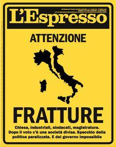 La copertina dlel'Espresso in edicola da domenica 18 marzo