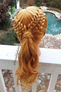 braided, headless girl... Love the braid. Ignoring the decapitation.